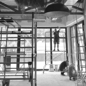 Терраса SHEF в Киеве, стройка. Студия дизайна интерьера Alta Idea