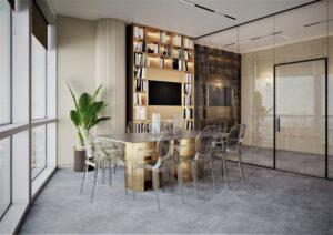 Проект дизайна интерьера бизнес-центра в Киеве. М17_1