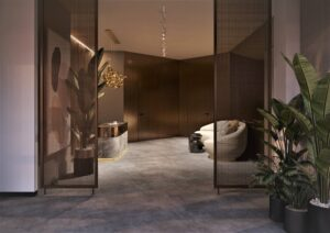 Проект дизайна интерьера бизнес-центра в Киеве. М17_21